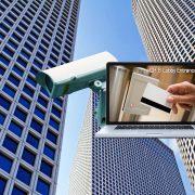 Egy ipari kamera a biztonság érdekében