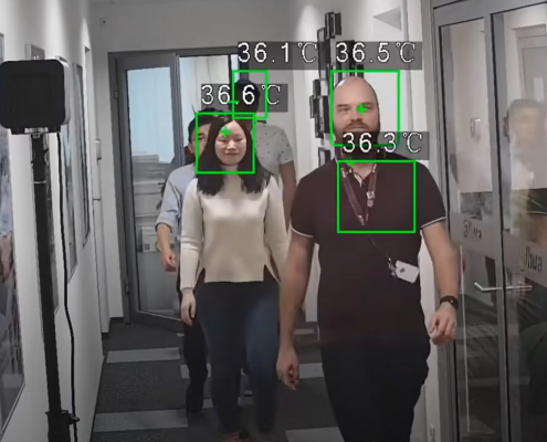 Testhő kamera, kötelező maszk viselés figyeléssel