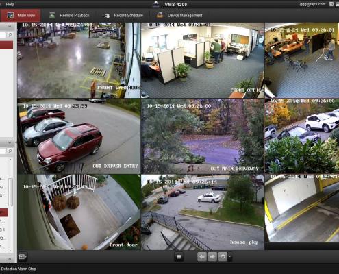 AHD kamerarendszer kültéri megfigyelés